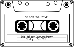 objects&Audio cassette png image.
