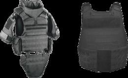 weapons&Bulletproof vest png image.