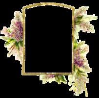 flowers&Floral frame png image.