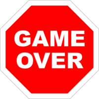 words phrases&Game over png image.