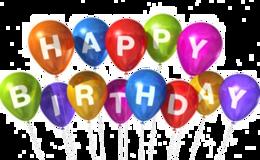 words phrases&Happy Birthday png image.