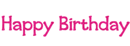 Happy Birthday&words phrases png image