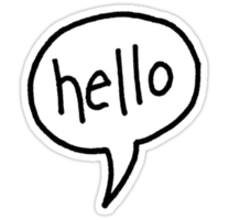 words phrases & hello free transparent png image.