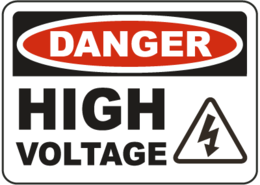 words phrases&High voltage png image.
