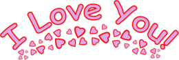 words phrases&I love you png image.