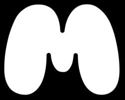 alphabet&M png image.