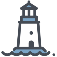 architecture&Lighthouse png image.