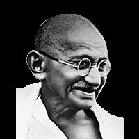 celebrities&Mahatma Gandhi png image.