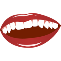 people&Mouth smile png image.