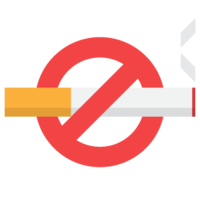 words phrases&No smoking png image.