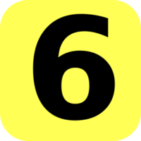 numbers&6 png image.