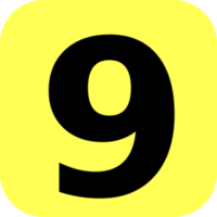 numbers&9 png image.