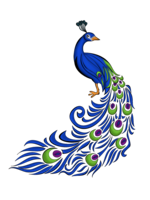 Peacock&animals png image