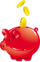 objects&Piggy bank png image.