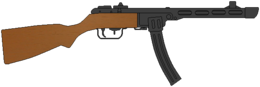 weapons&PPSh 41 png image.