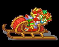 holidays&Santa sleigh png image.