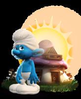heroes&Smurfs png image.