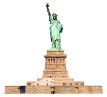 architecture&Statue of Liberty png image.