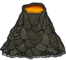 nature&Volcano png image.